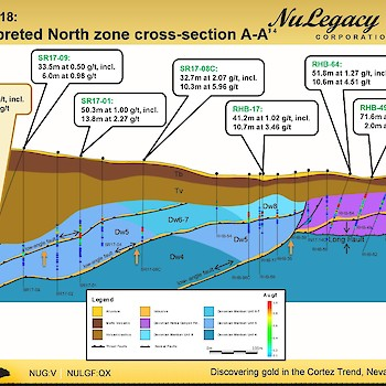 Iceberg North zone cross section A-A
